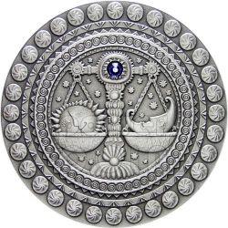 LIBRA Horoscope Zodiac Swarovski Moneda Plata Belarus 2009