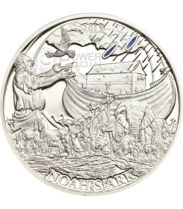 ARK OF NOAH Biblical Stories Silver Coin 2$ Palau 2013
