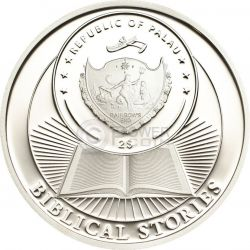 ARK OF NOAH Biblical Stories Moneda Plata 2$ Palau 2013
