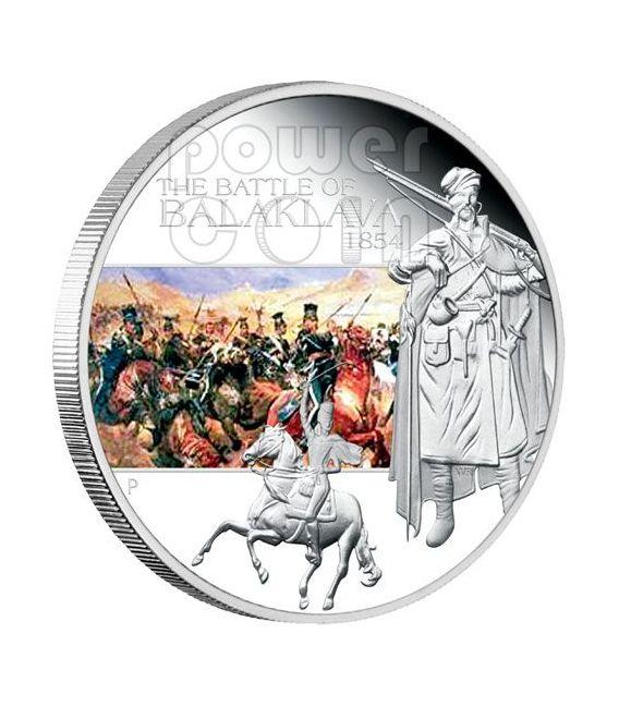 BALACLAVA Battaglia 1854 Moneta Argento 1$ Tuvalu 2009
