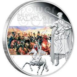 BALAKLAVA Battle 1854 Silber Münze 1$ Tuvalu 2009