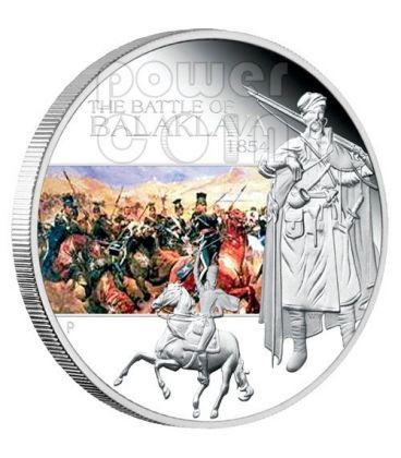 BALAKLAVA Battle 1854 Silver Coin 1$ Tuvalu 2009
