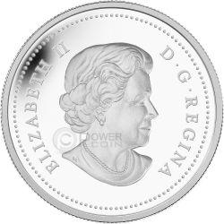 NORTHERN LIGHTS Nanahboozho Great Hare Hologram Серебро Монета 20$ Канада 2013