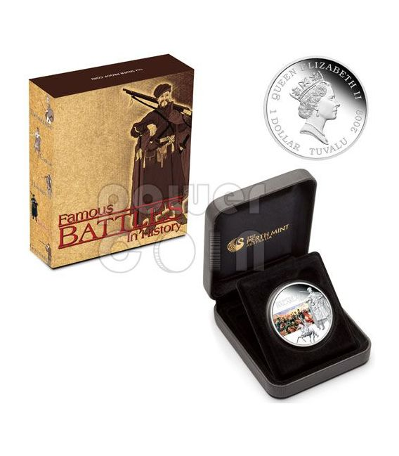 BALAKLAVA Battle 1854 Moneda Plata 1$ Tuvalu 2009
