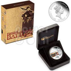 BALAKLAVA Battle 1854 Серебро Монета 1$ Тувалу 2009