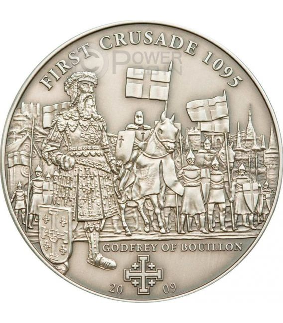 CRUSADE 1 Bouillon Holy Crusades Silber Münze 5$ Cook Islands 2009