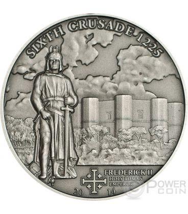 CROCIATA 6 Federico II Moneta Argento 5$ Cook Islands 2014