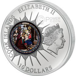 WINDOWS OF HEAVEN BETHLEHEM Church Saint Catherine Silver Coin 10$ Cook Islands 2012