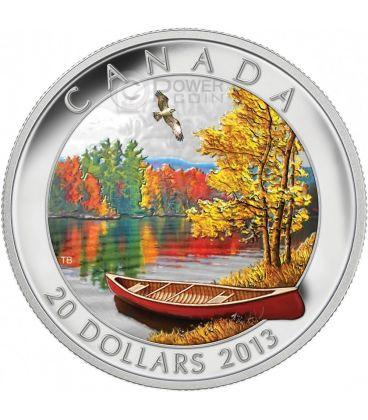 AUTUMN BLISS HARMONY Canada Atmospheric Seasons Silver Proof Coin 20$ Canada 2013
