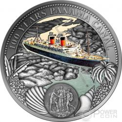 PANAMA CANAL 100 Years Anniversary Plata Proof Moneda 2$ Niue 2014