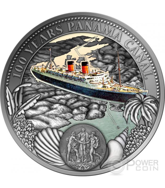 Panama Canal 100 Years Anniversary Silver Proof Coin 2 Niue 2014 Power Coin