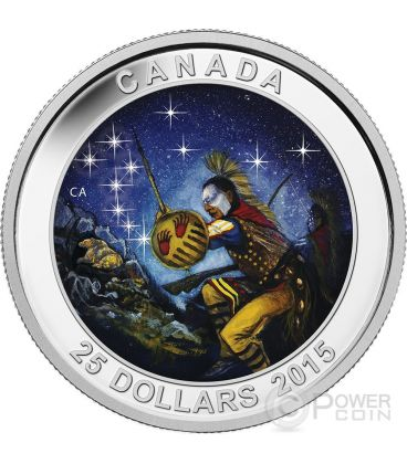 STAR CHARTS The Wounded Bear Silver Coin 25$ Canada 2015