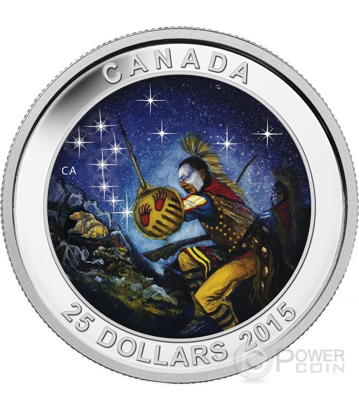 Star Charts The Wounded Bear Silver Coin 25 Canada 2015