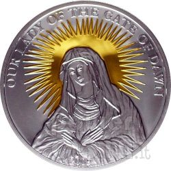 OUR LADY OF THE GATE OF DAWN Moneda Plata 5$ Palau 2009