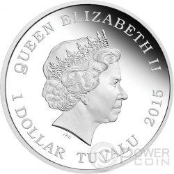 CAPTAIN KIRK ENTERPRISE Starship Star Trek Two Silver Coin Set 1$ Tuvalu 2015