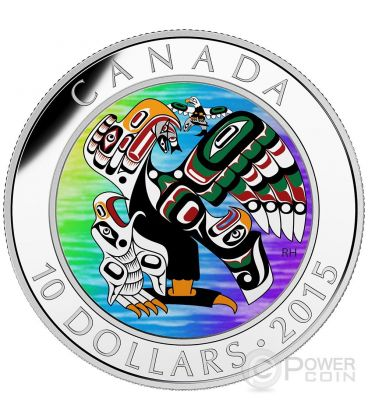 MOTHER FEEDING BABY First Nations Art Prime Nazioni Moneta Argento 10$ Canada 2015