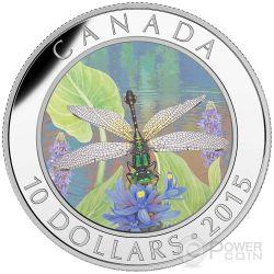 PYGMY SNAKETAIL Libellula Dragonfly Moneta Argento 10$ Canada 2015