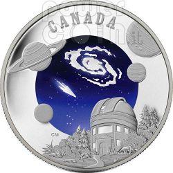 ANNO INTERNAZIONALE ASTRONOMIA IYA Moneta Argento 30$ Canada 2009