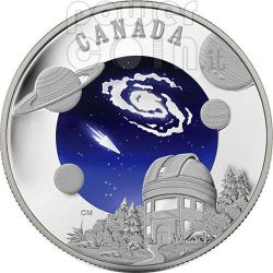 INTERNATIONAL YEAR ASTRONOMY IYA Moneda Plata 30$ Canada 2009