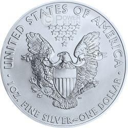 UNION American Civil War Oro Walking Liberty Flag 1 Oz Moneda Plata 1$ USA 2014