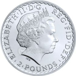 PATRIOTIC BRITANNIA Oro Flag 1 Oz Moneda Plata 2£ United Kingdom 2014