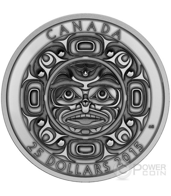 Singing Moon Mask Set First Nations Art High Relief Silver