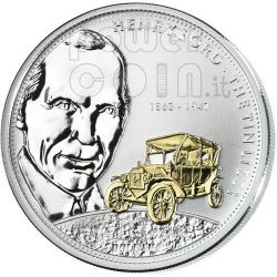 FORD Henry Financial Tycoons Moneda Plata 10$ Cook Islands 2008