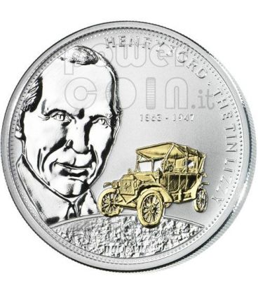 FORD Henry Financial Tycoons Silver Coin 10$ Cook Islands 2008