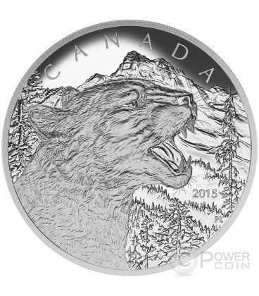 PUMA Coguaro Growling Cougar Moneta Argento 1/2 Kg Kilo 125$ Canada 2015