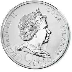 FORD Henry Financial Tycoons Серебро Монета 10$ Острова Кука 2008
