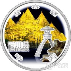 ISHIKAWA 47 Prefectures (38) Silber Proof Münze 1000 Yen Japan 2014