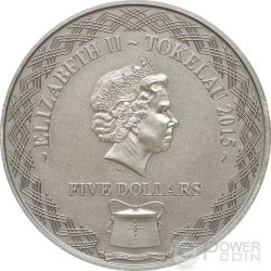LADY LOVIBOND Ghost Ship Silver Coin 5$ Tokelau 2015