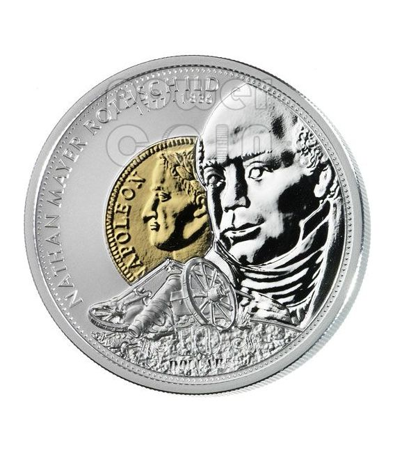 ROTHSCHILD Nathan Financial Tycoons Silber Münze 10$ Cook Islands 2008