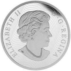 MAPLE LEAF Hologram 5 Oz Silber Münze 50$ Canada 2015
