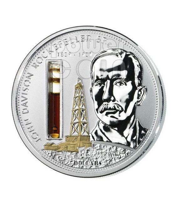 ROCKEFELLER John Financial Tycoons Silber Münze 10$ Cook Islands 2008