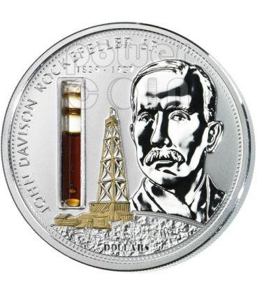 ROCKEFELLER John Mondo Della Finanza Moneta Argento 10$ Cook Islands 2008
