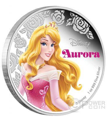 AURORA Disney Princess Sleeping Beauty 1 oz Silver Proof Coin 2$ Niue 2015