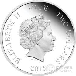 AURORA Disney Princess Principessa Bella Addormentata 1 oz Moneta Argento 2$ Niue 2015