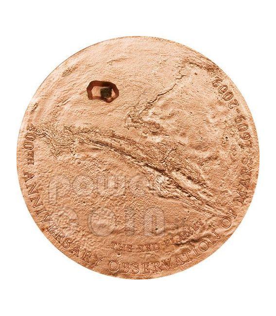 MARS METEORITE 400th Anniversary Silber Münze 5$ Cook Islands 2009