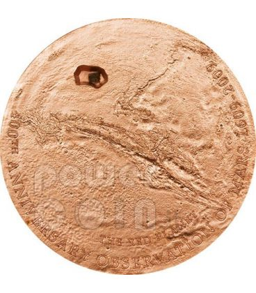 MARTE METEORITE 400 Anniversario Moneta Argento 5$ Cook Islands 2009