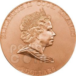 MARS METEORITE 400th Anniversary Moneda Plata 5$ Cook Islands 2009