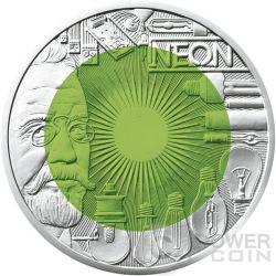FASCINATION LIGHT Faszination Licht Niobium Silber Bimetallic Münze 25€ Euro Austria 2008