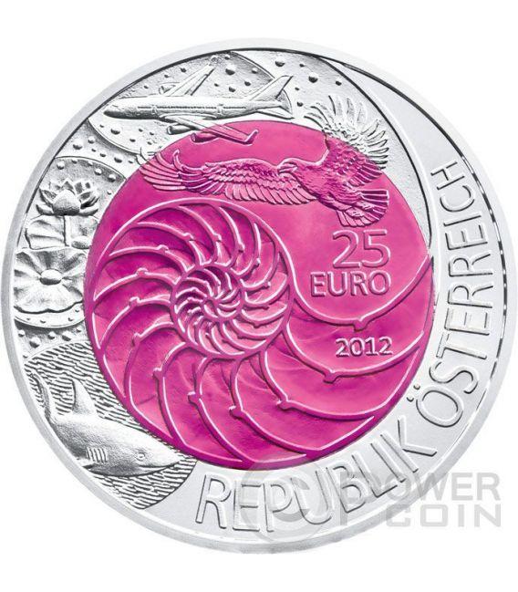 BIONIK Niobium Silver Bimetallic Coin 25€ Euro Austria 2012