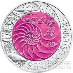 BIONIK Niobium Серебро Bimetallic Монета 25€ Euro Австрия 2012