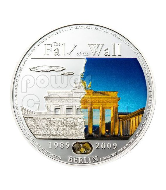 BERLIN WALL 20th Anniversary Fall Silber Münze 5$ Palau 2009