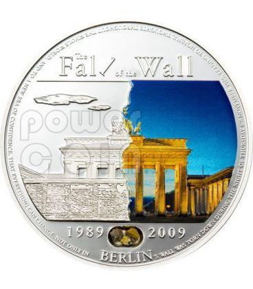 BERLIN WALL 20th Anniversary Fall Silver Coin 5$ Palau 2009