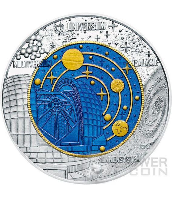 COSMOLOGY Kosmologie Niobium Silver Bimetallic Coin 25€ Euro Austria 2015