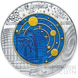 COSMOLOGY Kosmologie Niobium Plata Bimetallic Moneda 25€ Euro Austria 2015