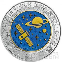 COSMOLOGY Kosmologie Niobium Silber Bimetallic Münze 25€ Euro Austria 2015