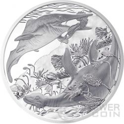 TRIASSIC Life In The Water Trias Prehistoric Life Серебро Монета 20€ Euro Австрия 2013